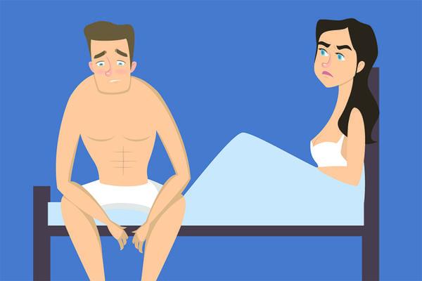 erecția a dispărut în timpul masajului de prostată)
