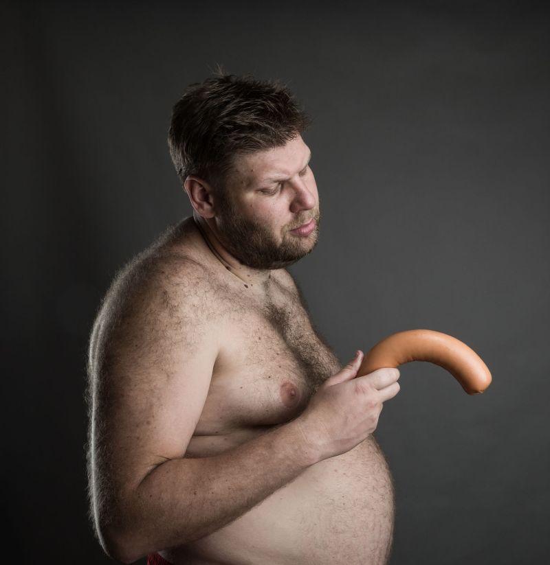 penis în stomac)