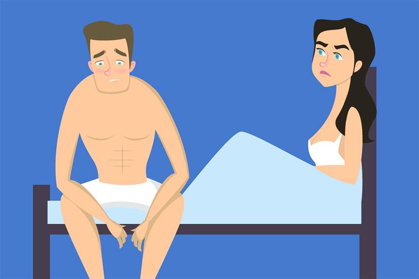în timpul actului sexual, erecția slăbește cauza
